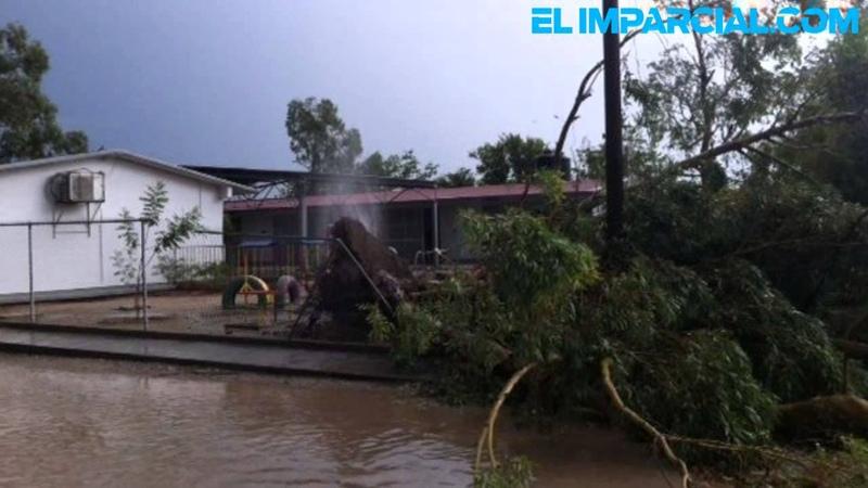 Provocan daños lluvias y vientos de 116 km hora en Hermosillo