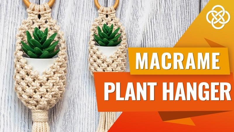 DIY Macrame Pods   Macrame Pot Hanger   Macrame Plant Hanger Tutorial
