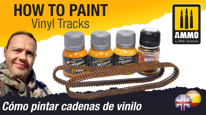 How to Paint Vinyl Tracks Cómo pintar orugas de vinilo