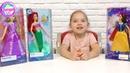 Куклы Дисней Принцессы Мерида, Рапунцель, Ариель и Белоснежка из известных мультфильмов Диснея