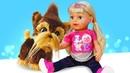 Смешные видео с куклы Беби Бон и щенки Фурриал! Принцессы Диснея в весёлые игры для девочек одевалки