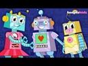 Семейка пальчиков Весёлые песни для детей. Музыка для малышей про роботов.