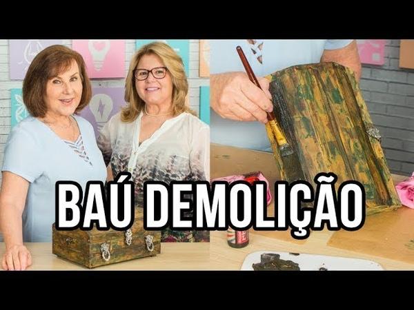 Restauração de Baú - Pátina tipo Demolição