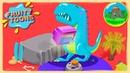 Голубой Динозавр 🦖 рычит на телевизор 📺 Fruity Toons - 36 серия каваи мультика для детей